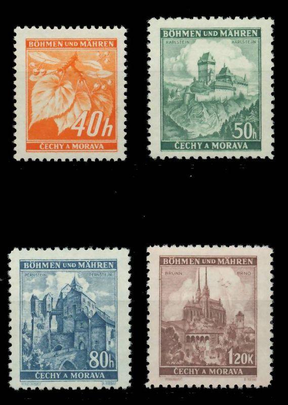 BÖHMEN MÄHREN 1939-1940 Nr 38-41 postfrisch 7DCF6E