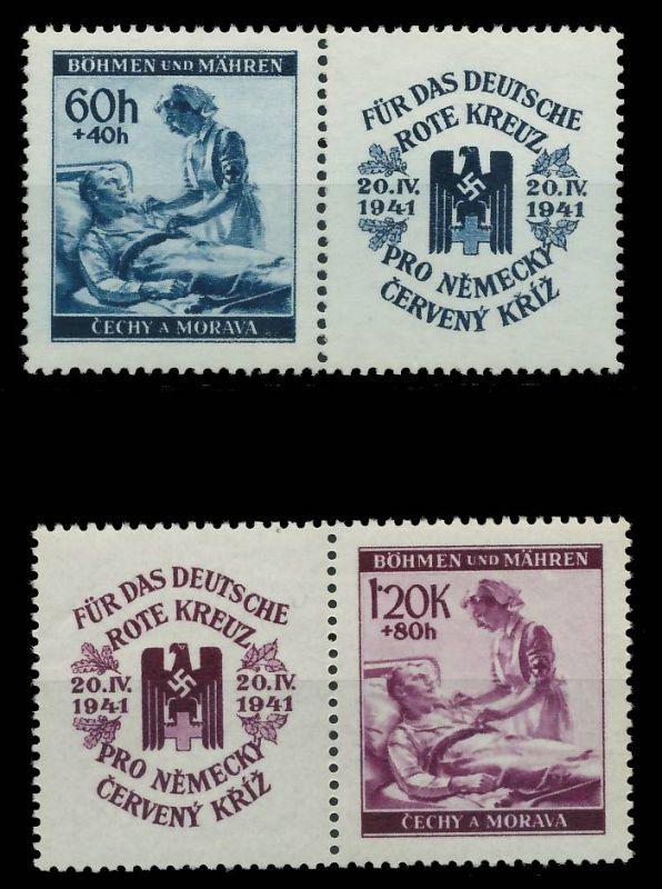 BÖHMEN MÄHREN 1941 Nr 62ZF-63ZF postfrisch 7DCF86