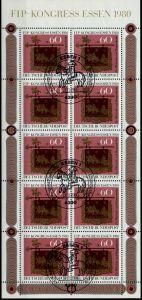 BRD BLOCK KLEINBOGEN 1949 1989 Nr 1065KB ESST-E S5312EE