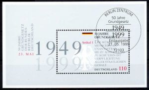 BRD BLOCK KLEINBOGEN 1990 2001 Block 48-ESST-BE S53CD0A