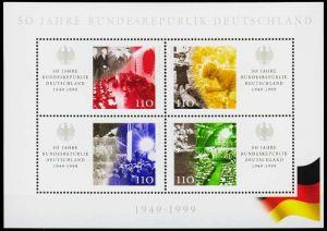 BRD BLOCK KLEINBOGEN 1990 2001 Block 49 postfrisch S53CCFA