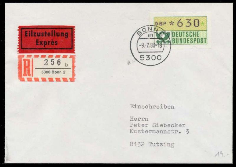 BRD ATM1-630 BRIEF EF EINSCHREIBEN 7E45C6