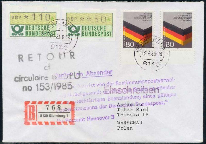 Brd Atm1 110 050 Brief Mif Nach Polen Retoure 7e45ba Nr 1ea000bf223