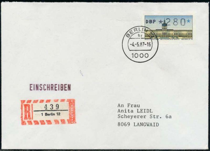 Berlin Atm 1 280 Brief Einschreiben Fdc 7e462e Nr 1ea0055de8a