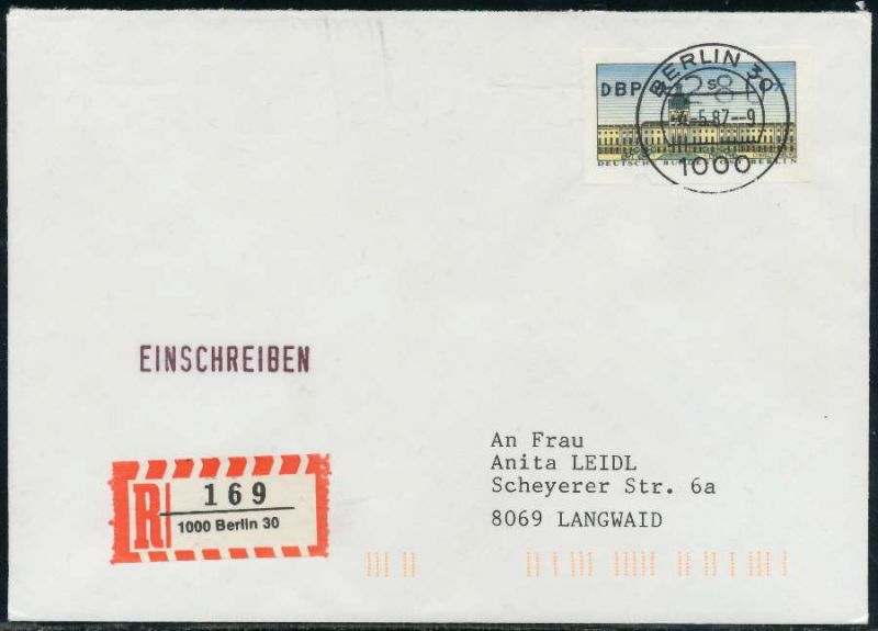 Berlin Atm 1 280 Brief Einschreiben Fdc 7e464e Nr 1ea0055c73b