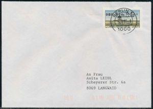 BERLIN ATM 1-080 NORMAL-BRIEF EF FDC 7E46FA