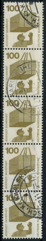 BRD DS UNFALL Nr 702ARa gestempelt 5ER STR 7E6292