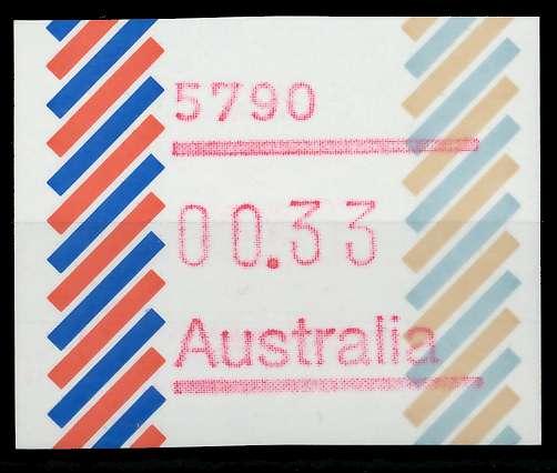 AUSTRALIEN ATM Nr ATM1-033 postfrisch 7E639E