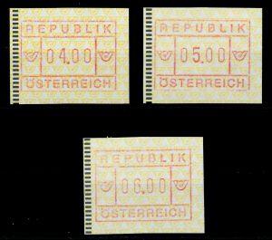 ÖSTERREICH ATM Nr 2-4S-ATM 2-6S postfrisch 7E64E6
