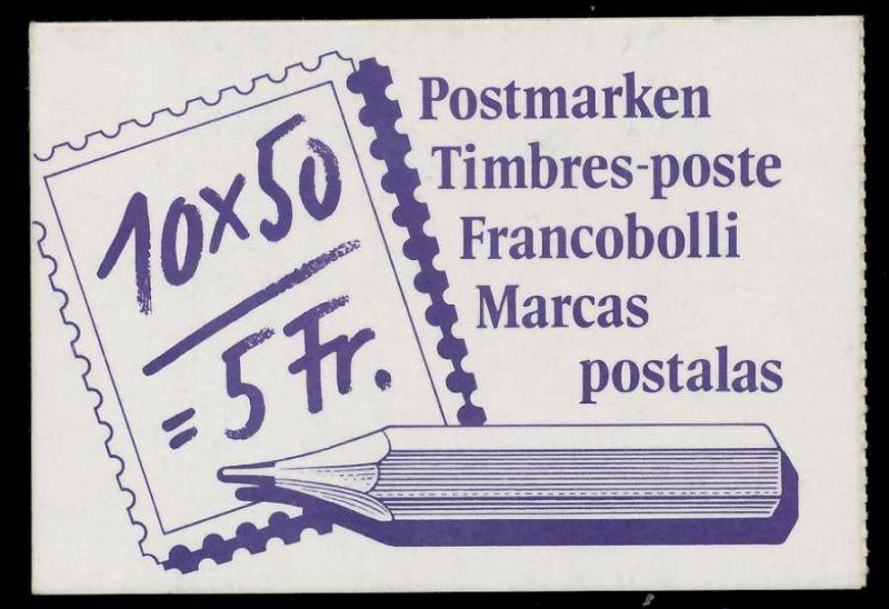SCHWEIZ MARKENHEFT Nr MH 0-084 postfrisch S5758FA