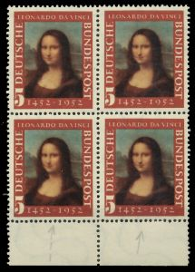 BRD 1952 Nr 148II postfrisch VIERERBLOCK URA 7EAEAA
