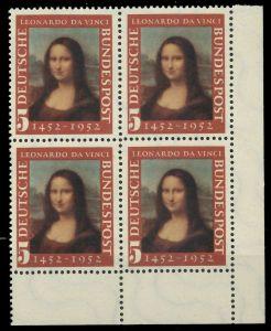 BRD 1952 Nr 148II postfrisch VIERERBLOCK ECKE-URE 7EAF82