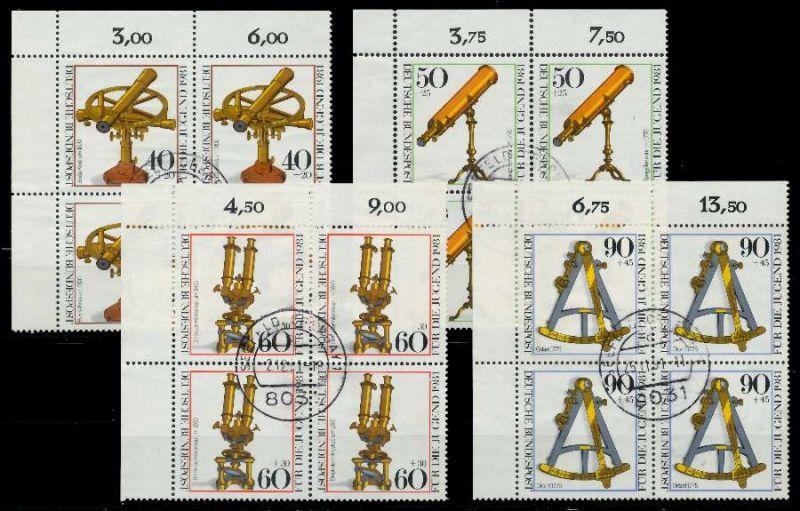 BRD 1981 Nr 1090-1093 zentrisch gestempelt VIERERBLOCK ECKE- 7EB076
