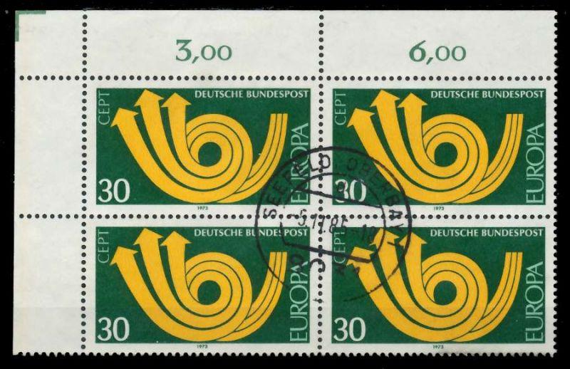 BRD 1973 Nr 768 zentrisch gestempelt VIERERBLOCK ECKE-OLI 7EB0AA