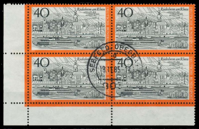 BRD 1973 Nr 762 zentrisch gestempelt VIERERBLOCK ECKE-ULI 7EB0CE