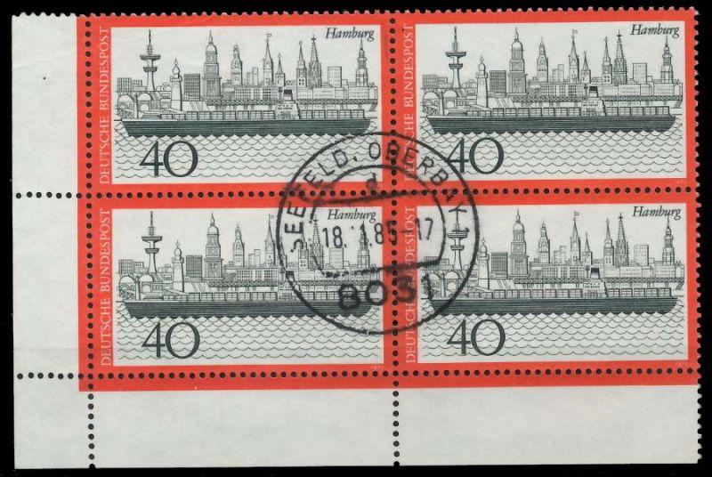 BRD 1973 Nr 761 zentrisch gestempelt VIERERBLOCK ECKE-ULI 7EB0DA