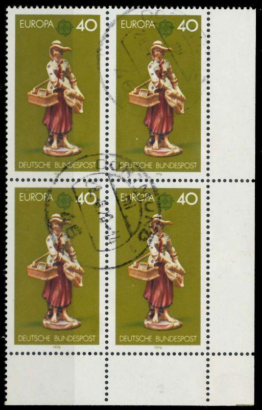 BRD 1976 Nr 890 zentrisch gestempelt VIERERBLOCK ECKE-URE 7EB0E2