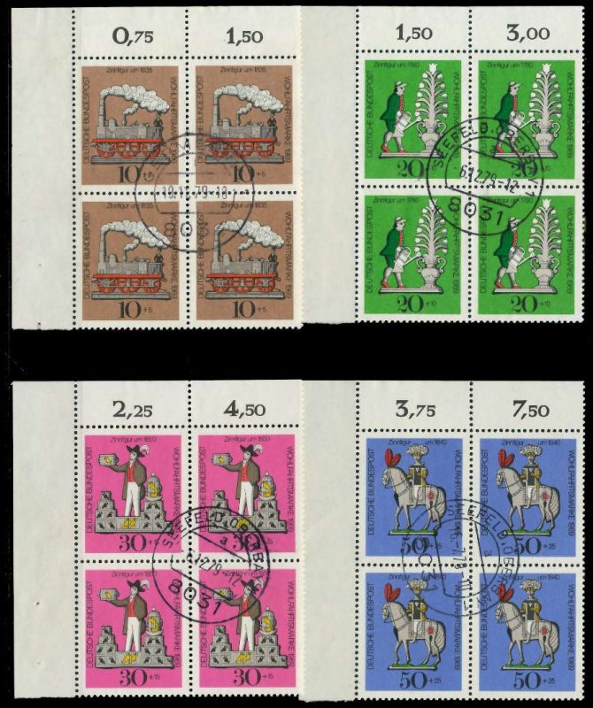 BRD 1969 Nr 604-607 zentrisch gestempelt VIERERBLOCK ECKE-OL 7EB0F6