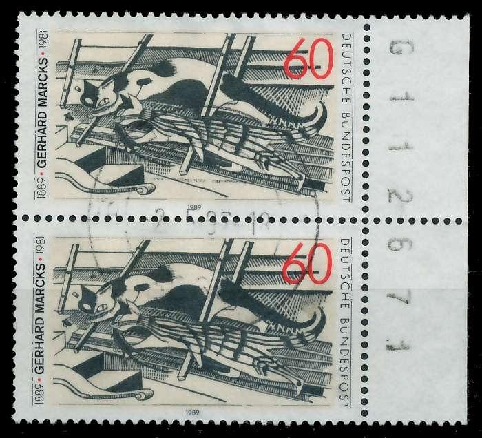 BRD 1989 Nr 1410 zentrisch gestempelt SENKR PAAR SRA 7EB12E