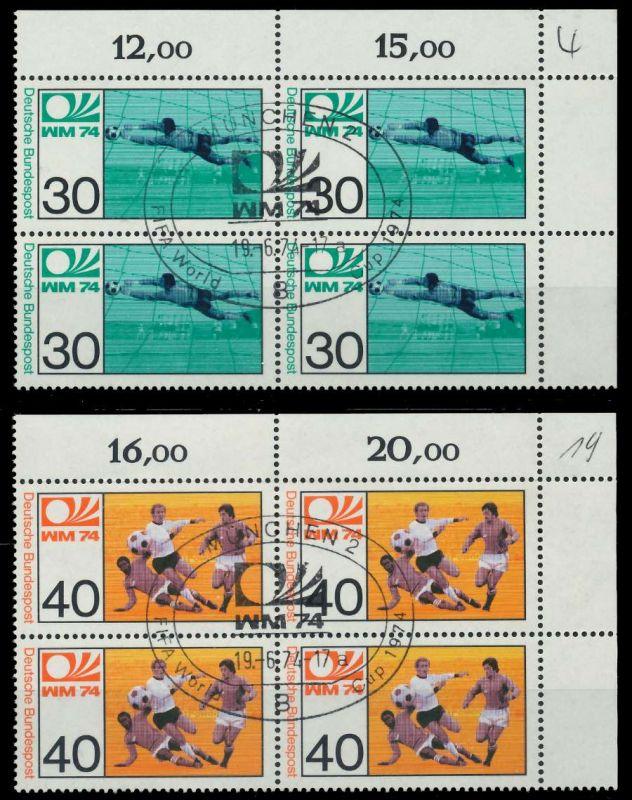 BRD 1974 Nr 811-812 zentrisch gestempelt VIERERBLOCK ECKE-OR 7EB18A