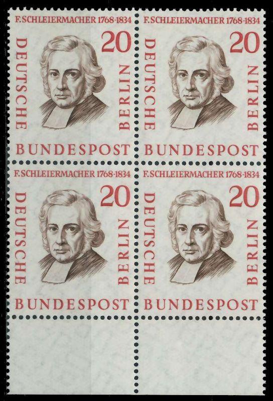 BERLIN 1957 Nr 167 postfrisch VIERERBLOCK URA 7F104E
