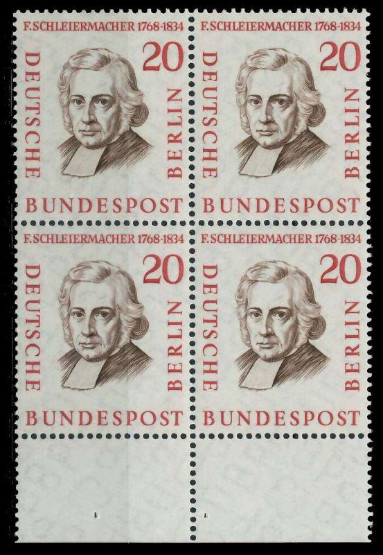 BERLIN 1957 Nr 167 postfrisch VIERERBLOCK URA 7F1052