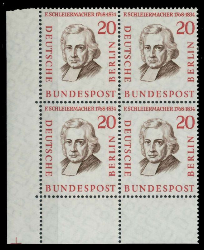 BERLIN 1957 Nr 167 postfrisch VIERERBLOCK ECKE-ULI 7F1056