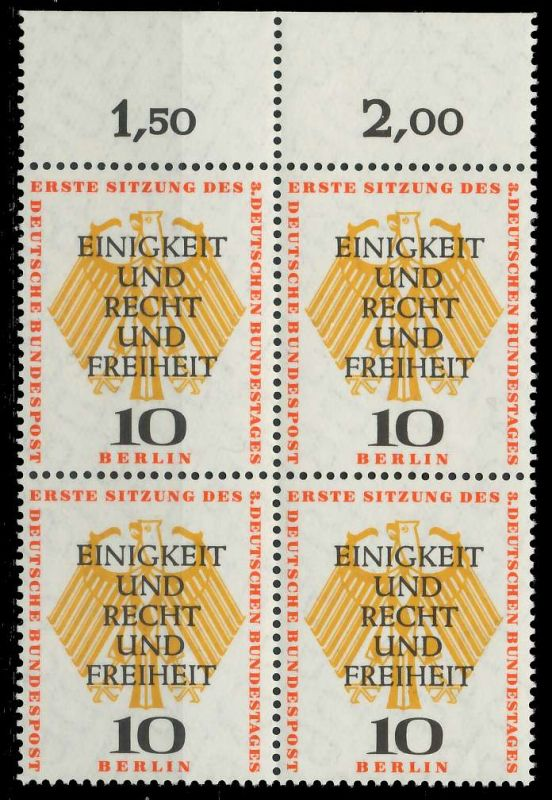 BERLIN 1957 Nr 174 postfrisch VIERERBLOCK ORA 7F105A