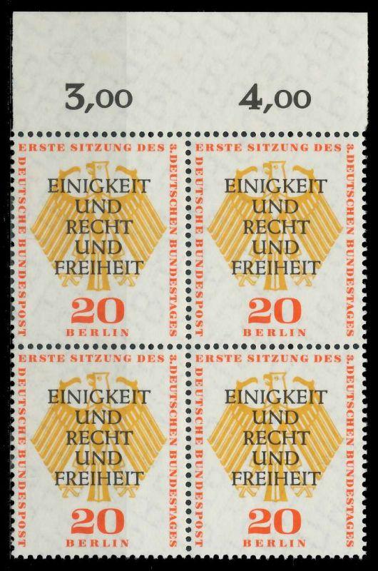 BERLIN 1957 Nr 175 postfrisch VIERERBLOCK ORA 7F1062