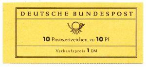 BRD MARKENHEFTCHEN Nr MH 06d postfrisch S5A7B12