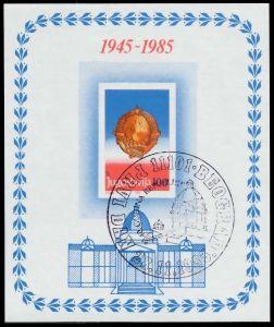 JUGOSLAWIEN Block 27 zentrisch gestempelt S01887E