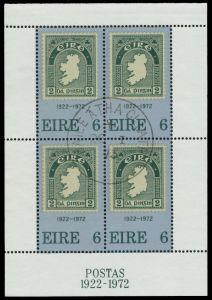 IRLAND Block 1 zentrisch gestempelt Briefst³ck 7F4F92