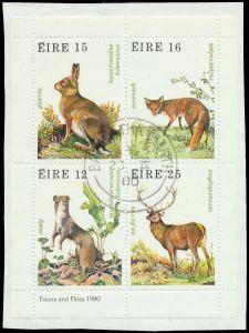 IRLAND Block 3 zentrisch gestempelt Briefst³ck 7F501A
