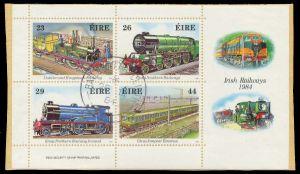 IRLAND Block 5 zentrisch gestempelt Briefst³ck 7F5022