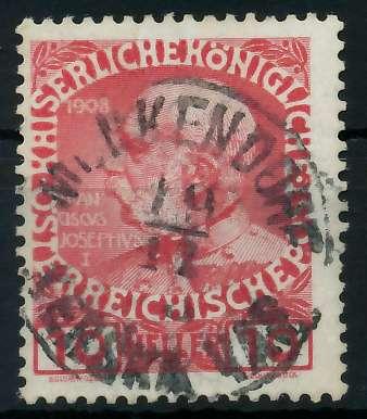 ÖSTERREICH 1908 Nr 144v zentrisch gestempelt 7C2252