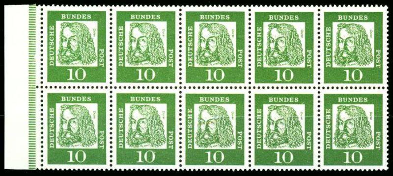 BRD HEFTCHENBLATT Nr H-Blatt 11B postfrisch HB S5E3EB2