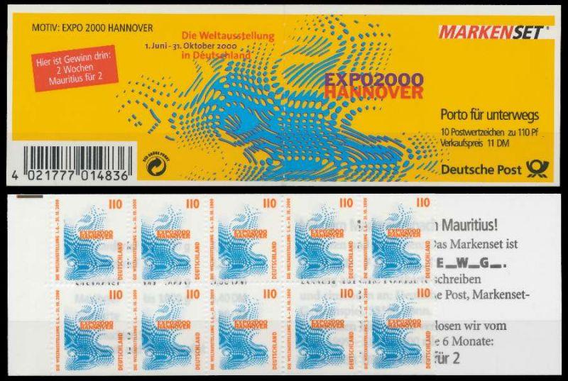 BRD MARKENHEFTCHEN Nr MH 39IIoZ postfrisch 801B72