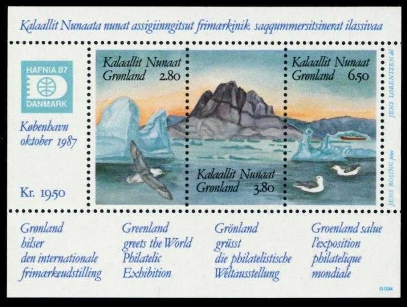 GRÖNLAND Block 1 postfrisch S019656
