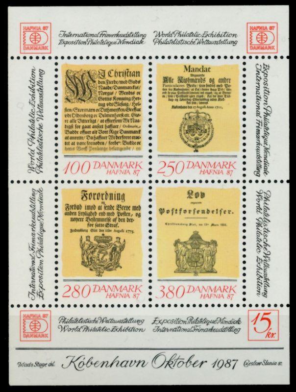 DÄNEMARK Block 4 postfrisch S0196AE