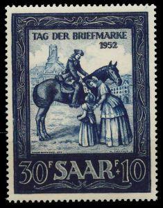 SAARLAND 1952 Nr 316 postfrisch 809602