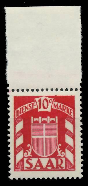 SAAR DIENSTMARKEN Nr 33 postfrisch ORA 809A8A