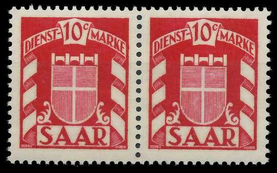 SAAR DIENSTMARKEN Nr 33 postfrisch WAAGR PAAR 809AA6