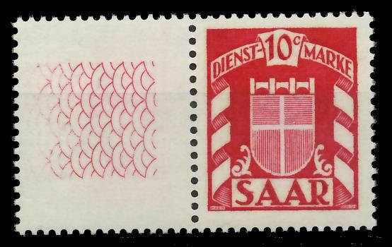 SAAR DIENSTMARKEN Nr 33Ll postfrisch S606ACE