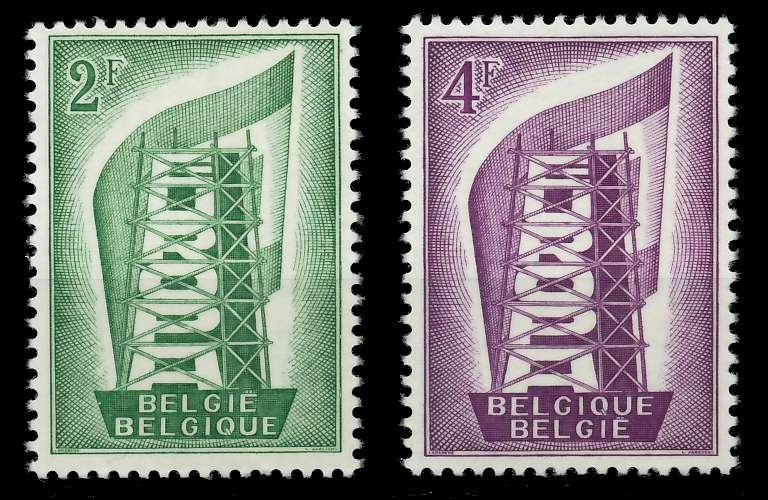 BELGIEN 1956 Nr 1043-1044 postfrisch 809B36