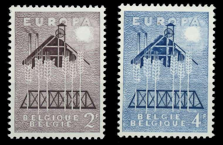 BELGIEN 1957 Nr 1070-1071 postfrisch 809B5E