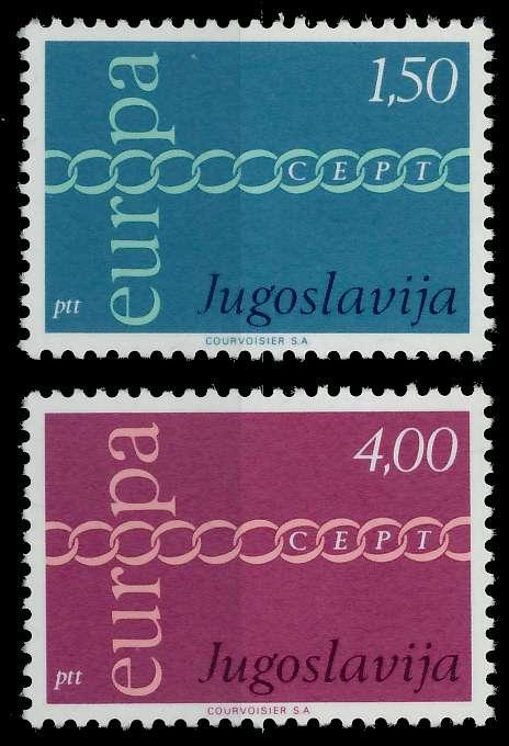 JUGOSLAWIEN 1971 Nr 1416-1417 postfrisch 809B82