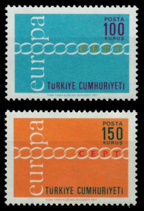 TÜRKEI 1971 Nr 2210-2211 postfrisch S019B86