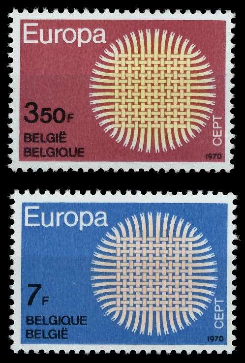 BELGIEN 1970 Nr 1587-1588 postfrisch S019ADA