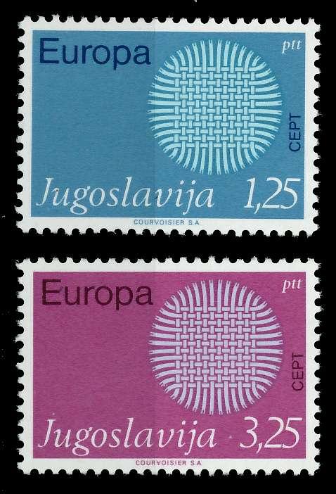 JUGOSLAWIEN 1970 Nr 1379-1380 postfrisch 809BDA