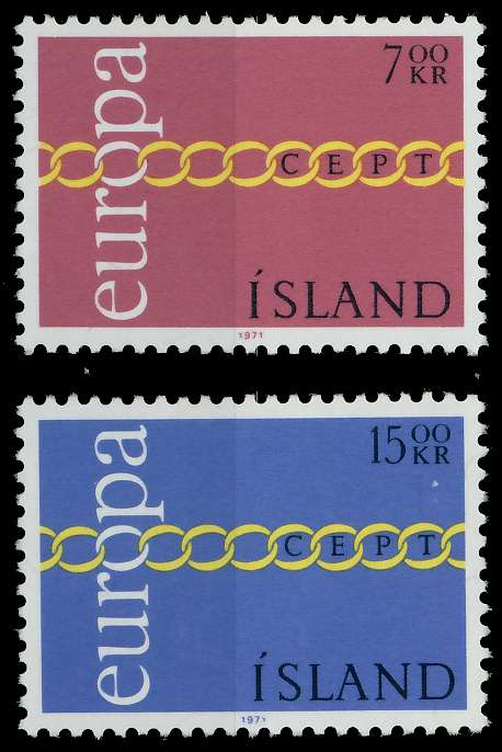 ISLAND 1971 Nr 451-452 postfrisch 809BEE